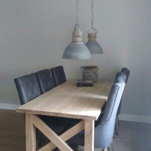 Eikenhouten tafel Birk