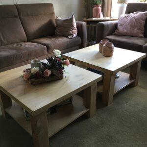 Eikenhouten salontafel Calan
