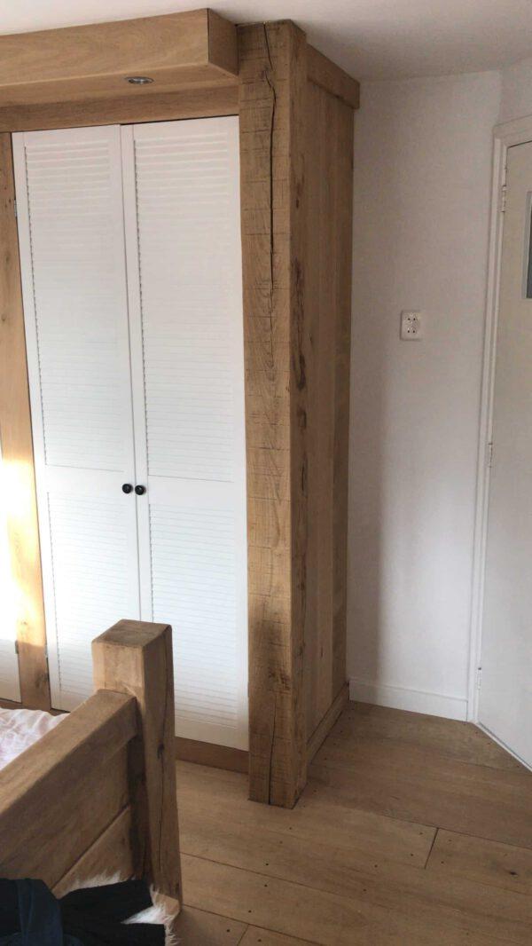 Eikenhouten inbouwkast
